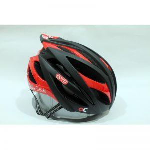 OCTO HC19 平價款自行車專用安全帽(消光黑/紅)