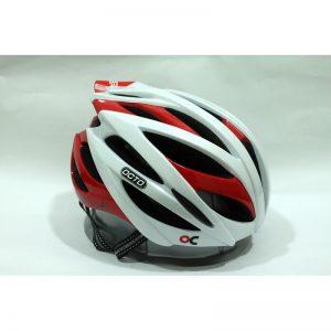 OCTO HC19 平價款自行車專用安全帽(亮光白紅)