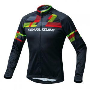 PEARL IZUMI 3455-BL-1 15度冬季男性保暖長袖車衣(黑/紅黃)