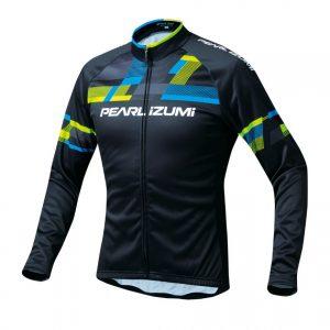 PEARL IZUMI 3455-BL-2 15度冬季男性保暖長袖車衣(黑/藍綠)