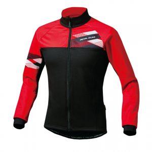 PEARL IZUMI 3500-BL-3 5度冬季男性防風保暖長袖公路車衣(黑/紅)