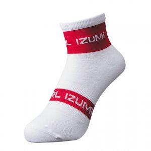 PEARL IZUMI 47-12 競賽型防滑車襪(白/紅)