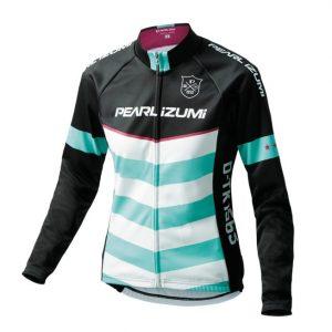 PEARL iZUMi W7455-BL-13 15度女性冬季保暖長袖車衣(黑/白綠)