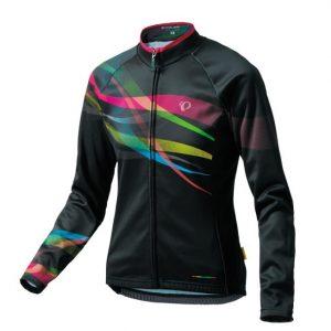 PEARL iZUMi W7455-BL-15 15度女性冬季保暖長袖車衣(黑/彩虹)