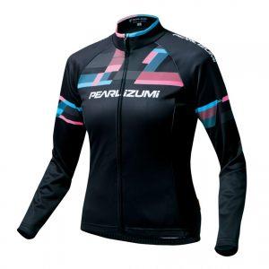 PEARL IZUMI W7455-BL-17 15度女性冬季保暖長袖車衣(黑/粉藍)