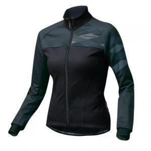 PEARL IZUMI W7500-BL-16 5度冬季女性保暖防風長袖公路車衣(黑)