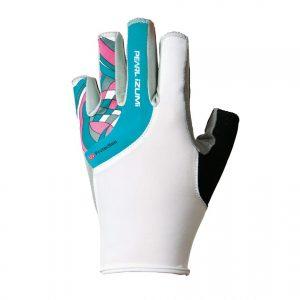 PEARL IZUMI W229-2 女性抗UV厚墊9分指手套(白/粉格)