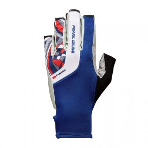 PEARL IZUMI W229-3 女性抗UV厚墊9分指手套(藍/紅格)
