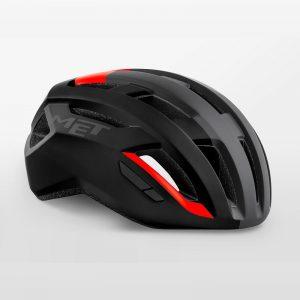 MET VINCI MIPS 自行車安全帽(消光黑紅)