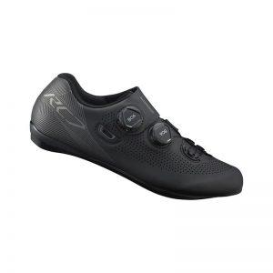 SHIMANO RC701 競賽級碳纖維男性公路車鞋 卡鞋(公司貨寬楦)(黑)