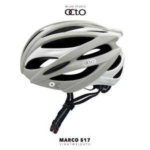 OCTO MARCO 517平價款輕量安全帽(霧灰/亮白)
