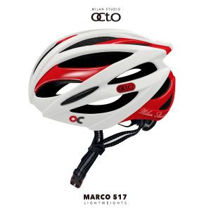 OCTO MARCO 517平價款輕量安全帽(霧白/亮紅)