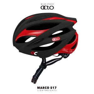 OCTO MARCO 517平價款輕量安全帽(霧黑/亮紅)