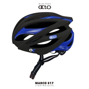 OCTO MARCO 517平價款輕量安全帽(霧黑/亮藍)
