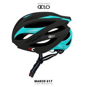 OCTO MARCO 517平價款輕量安全帽(霧黑/亮土耳其藍)
