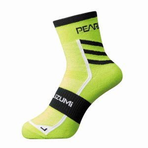 PEARL IZUMI 1740-8 頂級車襪(黑/螢光黃)