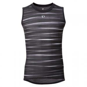 日本PEARL IZUMI 112-1 男性基本款涼感排汗衣(黑/條紋灰)