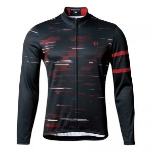 PEARL IZUMI 3455-BL-13 男性冬季15度保暖長袖車衣(黑紅)