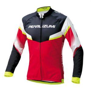 PEARL iZUMi 3455-BL-42 15度男性冬季保暖長袖車衣(紅/白/黑)
