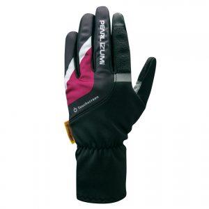 PEARL IZUMI W8300-10 女性15度冬季保暖全指手套(黑/紫)