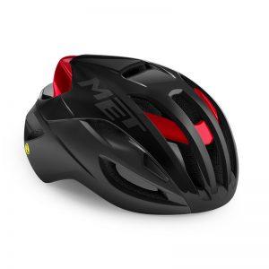 MET RIVALE MIPS 自行車安全帽(消光黑/亮紅)