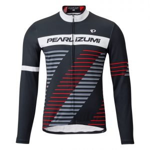 PEARL IZUMI 3455-BL-22 男性冬季15度保暖長袖車衣(黑/紅灰斜紋)